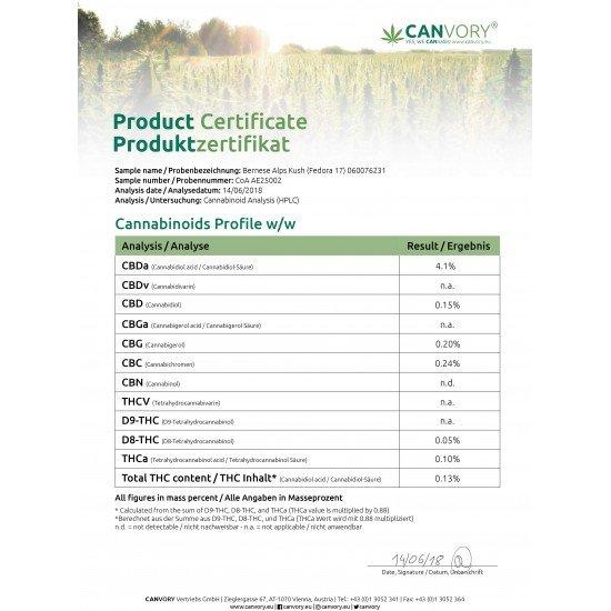 Bernese Alps Kush - 4% CBD Cannabidiol Cannabis aroma incense sticks